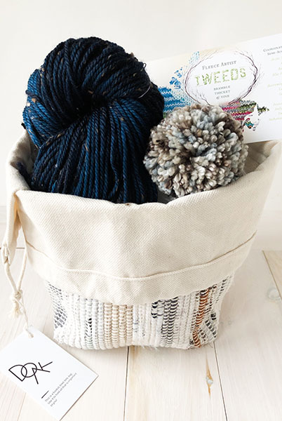 Hat and Handwoven Project Bag – Stellers jay